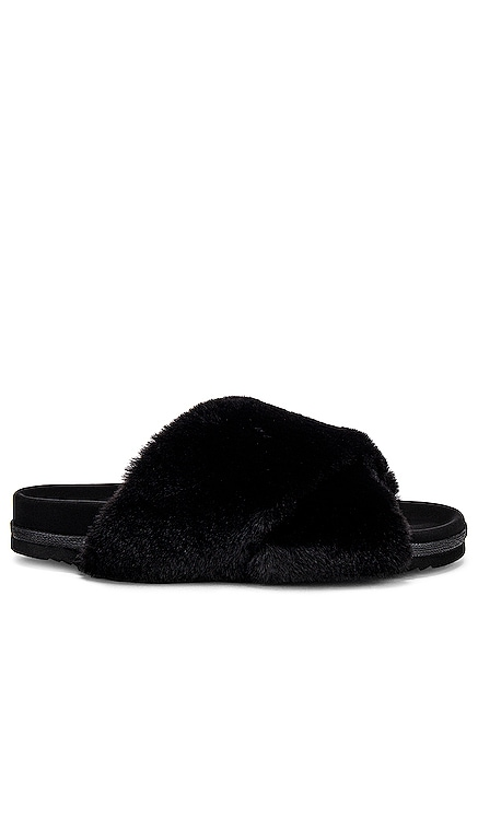 Mini Cloud Faux Fur Slippers R0AM $130 NEW