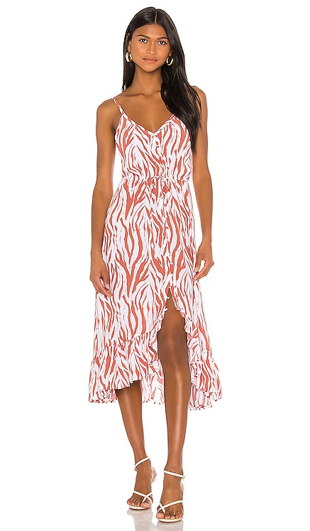 X REVOLVE Frida Midi Dress Rails $218