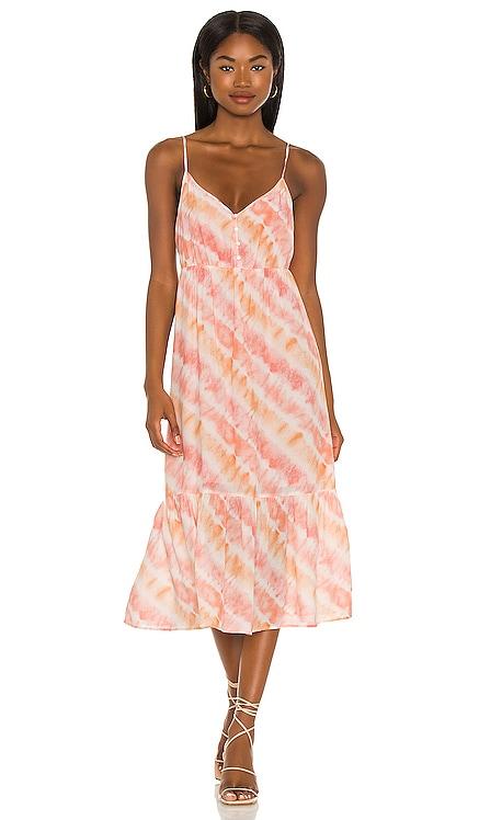 Delilah Midi Dress Rails $198 NUEVO
