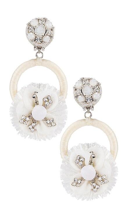 Crystal Flower Earring Ranjana Khan $85