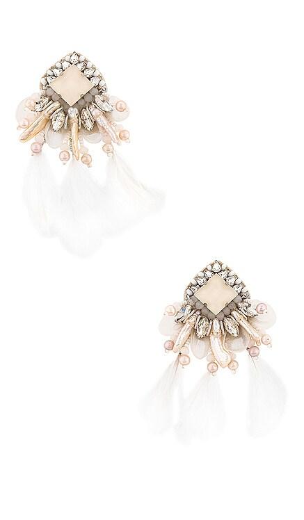 Feather Earrings Ranjana Khan $288