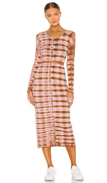 Long Sleeve Fitted Dress Raquel Allegra $270 NEW