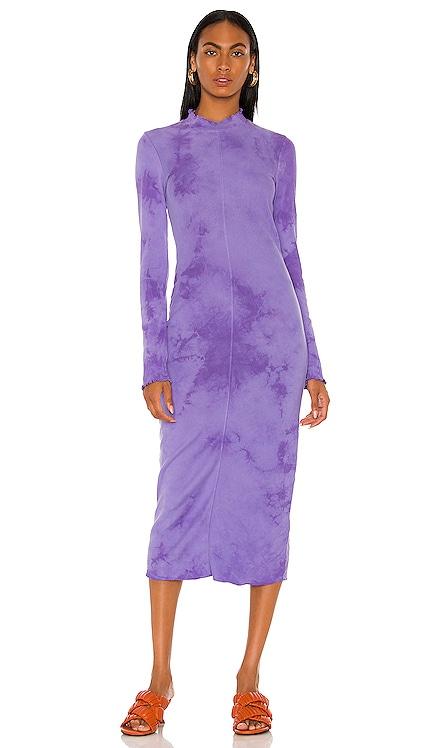 Long Sleeve Fitted Dress Raquel Allegra $275 NEW