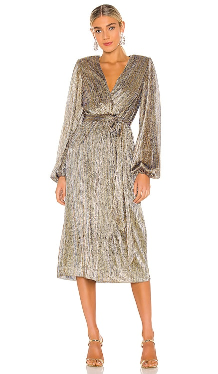 Rivero Long Sleeve Midi Dress Rebecca Vallance $645 NEW