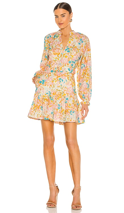 Ottoman Long Sleeve Mini Dress Rebecca Vallance $460 NEW