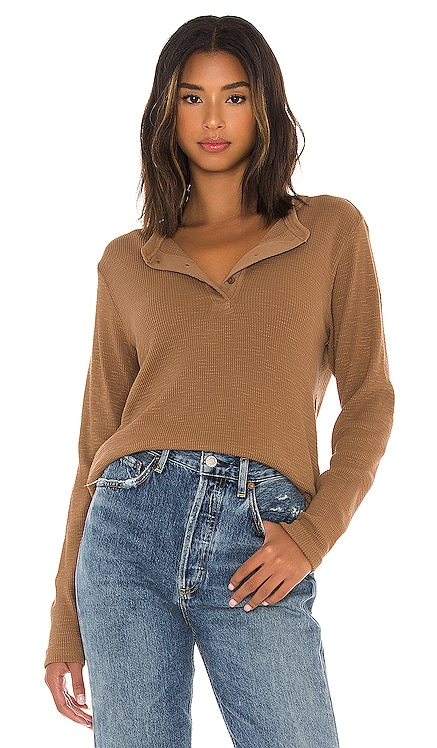 Henley Thermal Long Sleeve Tee RE/DONE $165 NEW