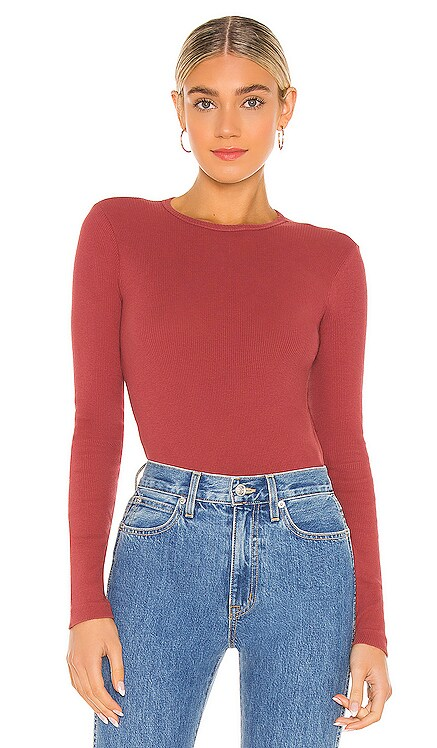 x Hanes 60s Slim Long Sleeve Bodysuit RE/DONE $185