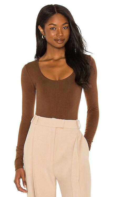 Scoop Neck Long Sleeve Bodysuit RE ONA $105