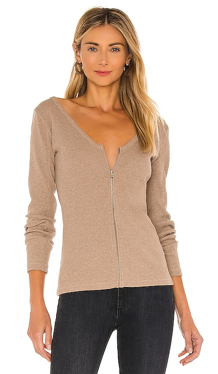 Laila Zip Long Sleeve Tee Rag & Bone $165 BEST SELLER