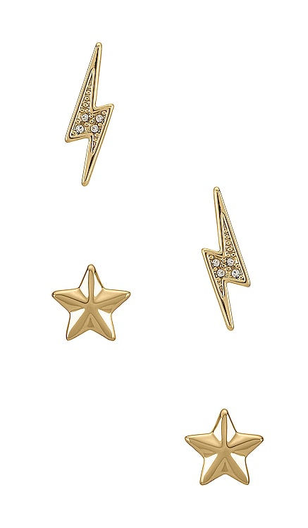 Star & Lightning Bolt Stud Earring Set Rebecca Minkoff $68