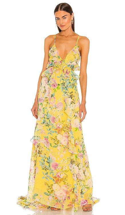 X REVOLVE Calla Dress ROCOCO SAND $575 NEW