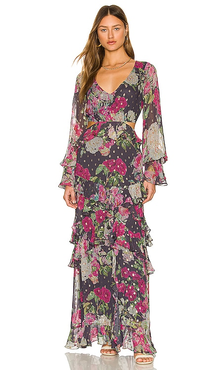 Avar Maxi Dress ROCOCO SAND $546 NEW