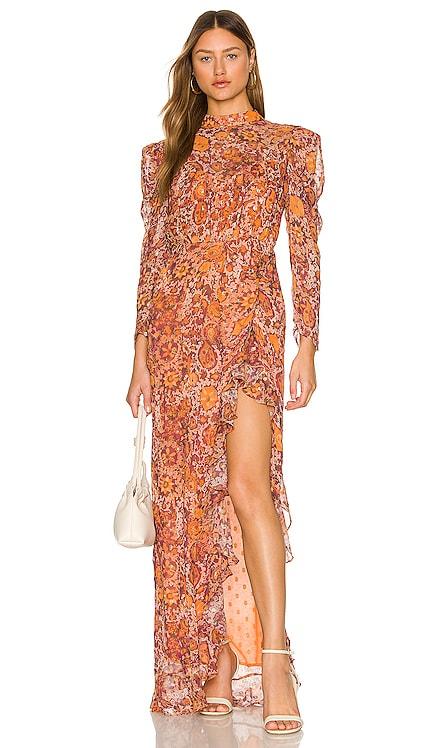 Lar Midi Dress ROCOCO SAND $396 NEW