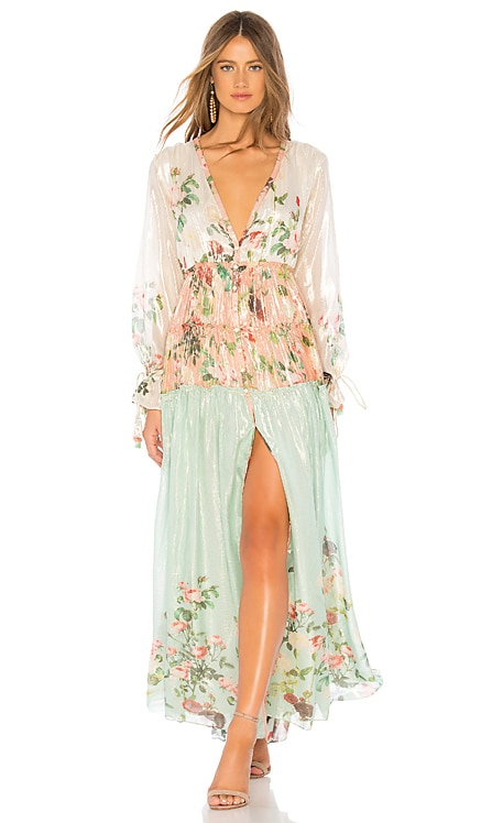 Ruched Long Dress ROCOCO SAND $441 BEST SELLER