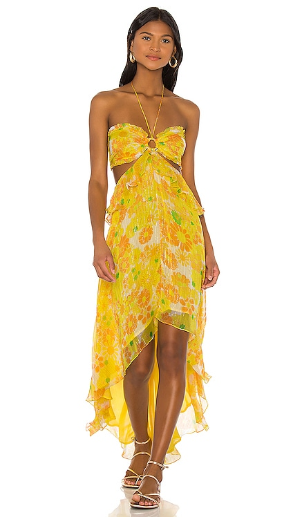 X REVOLVE Bloom Dress ROCOCO SAND $538