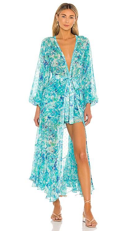 X REVOLVE Nesh Kimono ROCOCO SAND $397 NEW