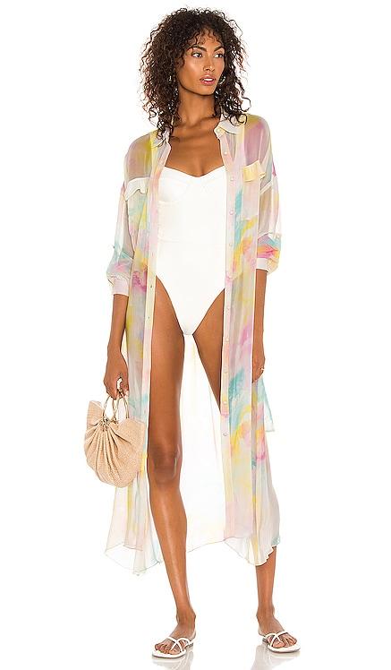X REVOLVE Zola Kimono ROCOCO SAND $243 NEW