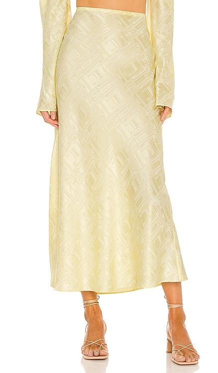 Mae Silk Jacquard Skirt Ronny Kobo $378 NEW