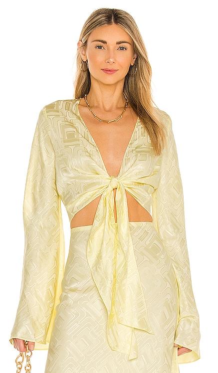 Yvette Silk Jacquard Top Ronny Kobo $298