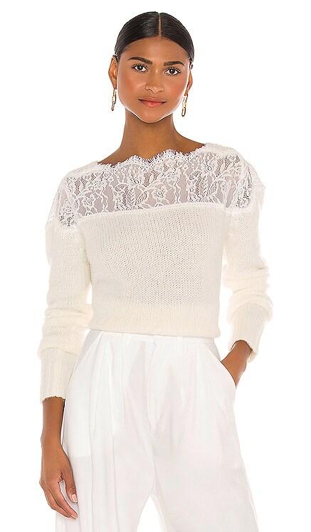 Lace Shoulder Sweater RAISSA $275 NEW