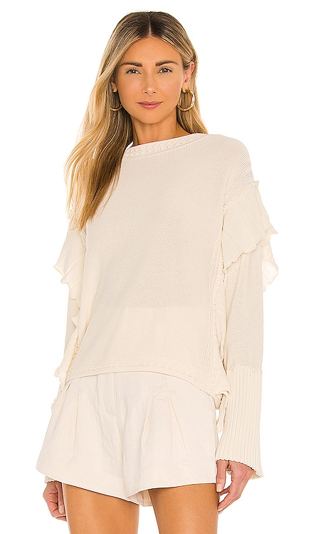 Pointelle Quilt Pullover Rebecca Taylor $325 NEW