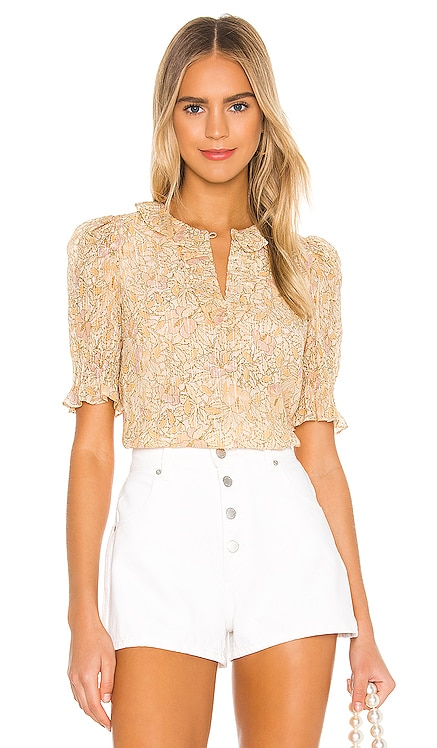 Short Sleeve Soleil Floral Top Rebecca Taylor $295 NEW ARRIVAL