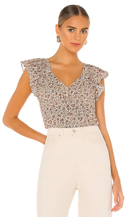 Short Sleeve Claudine Print Top Rebecca Taylor $195 NEW