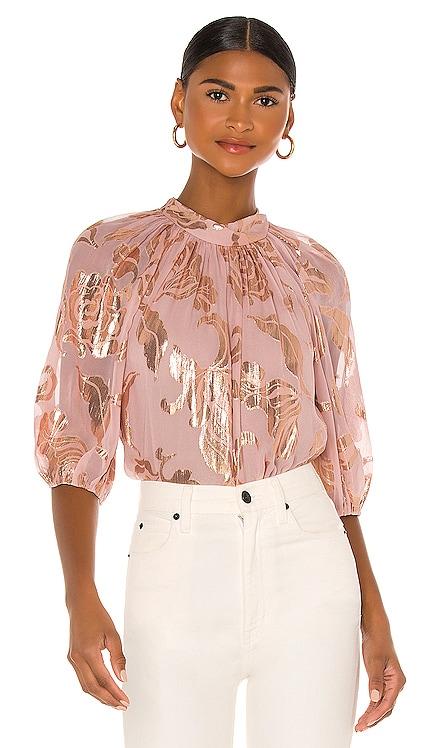 3/4 Sleeve Datura Floral Blouse Rebecca Taylor $350 NOUVEAU