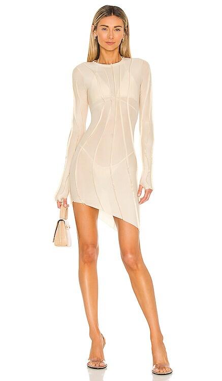 Asymmetric Mesh Mini Dress SAMI MIRO VINTAGE $310 NEW