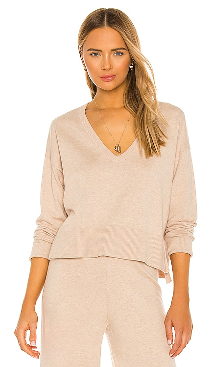Essential V Neck Crop Sweater Sanctuary $56
