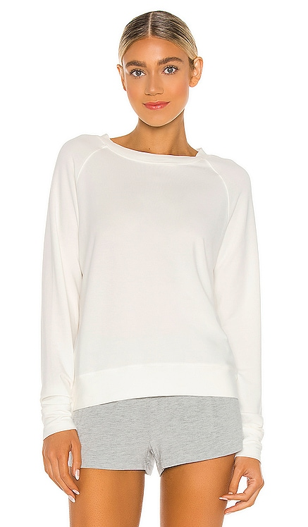 White Cloud Sweatshirt Stripe & Stare $110 NEW