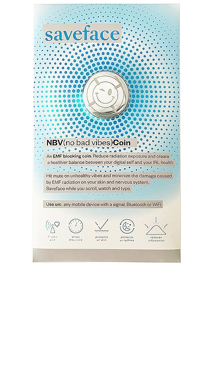 NBV(no bad vibes) Coin Anti-Radiation Blocking Decal Save(urpretty)face $22 NEW