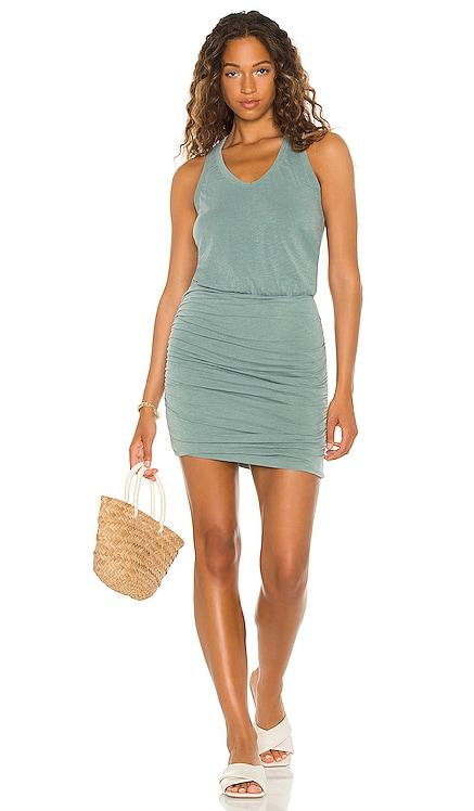 Ruched Sleeveless Mini Dress SUNDRY $138 NEW