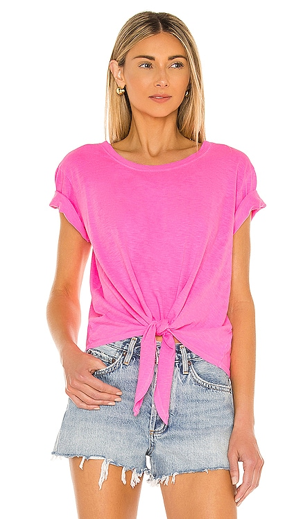 Tie Front T-Shirt SUNDRY $72 NEW