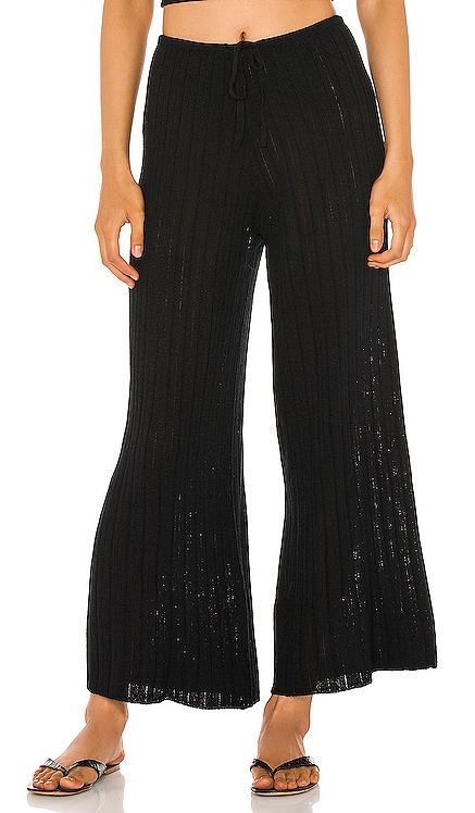 LOUNGE Baha Ribbed Wide Leg Pants SNDYS $59 NEW