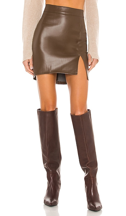 Knox Faux Leather Skirt SNDYS $65 NEW