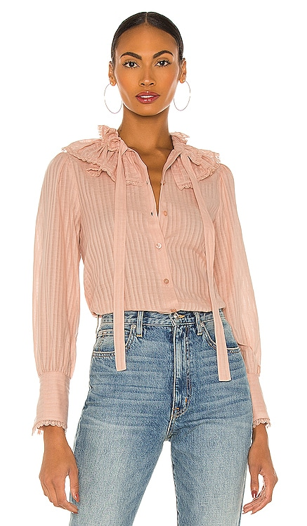 Embellished Voile Blouse See By Chloe $355 NEW