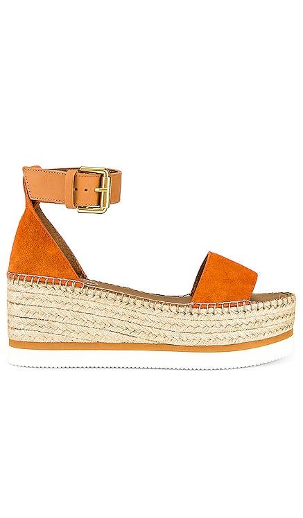 Glyn Flatform Sandal See By Chloe $280 NEW