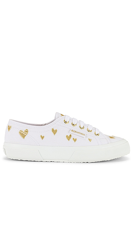 2750 COTWEMBROIDERY AMEHEARTS Sneaker Superga $85 NEW