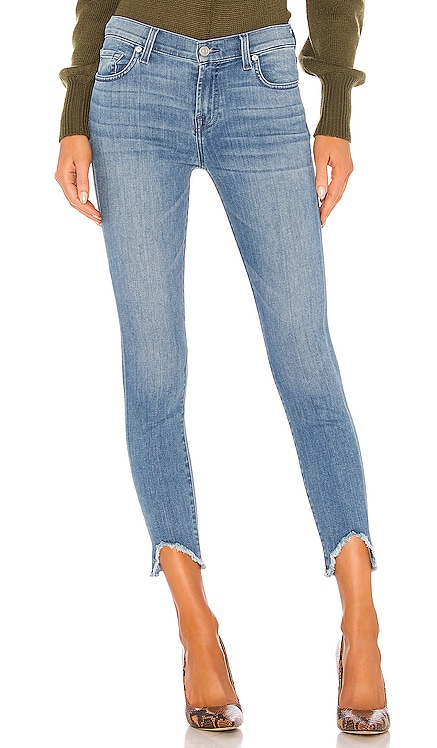 The Ankle Skinny Wave Hem 7 For All Mankind $116
