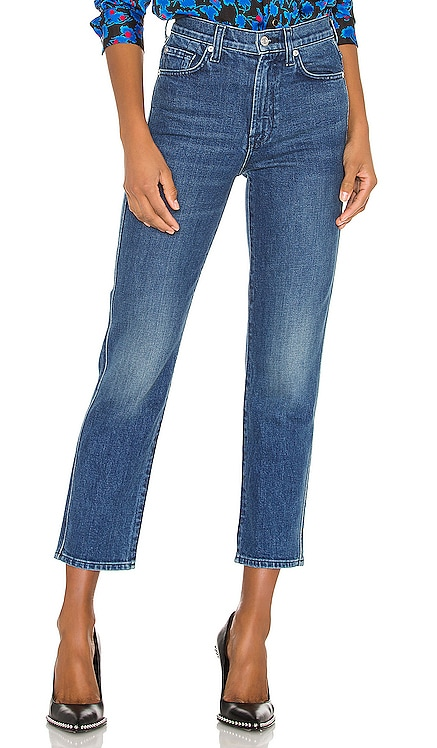 High Waist Cropped Straight 7 For All Mankind $156