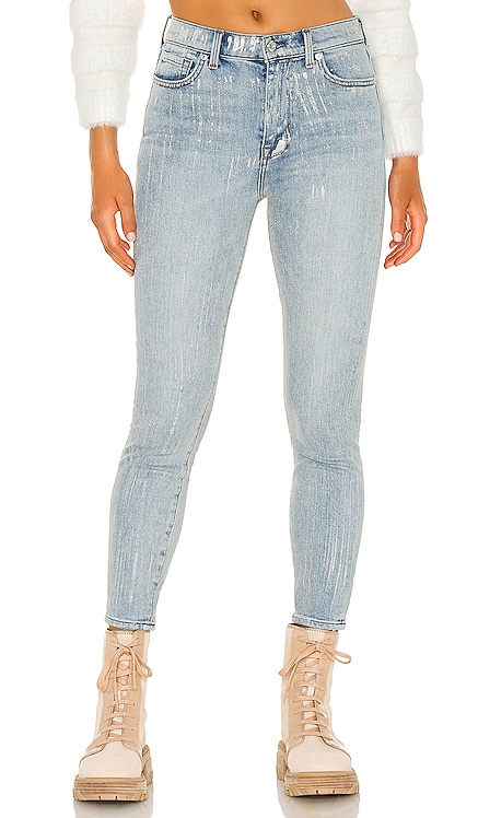 High Waist Ankle Skinny 7 For All Mankind $218