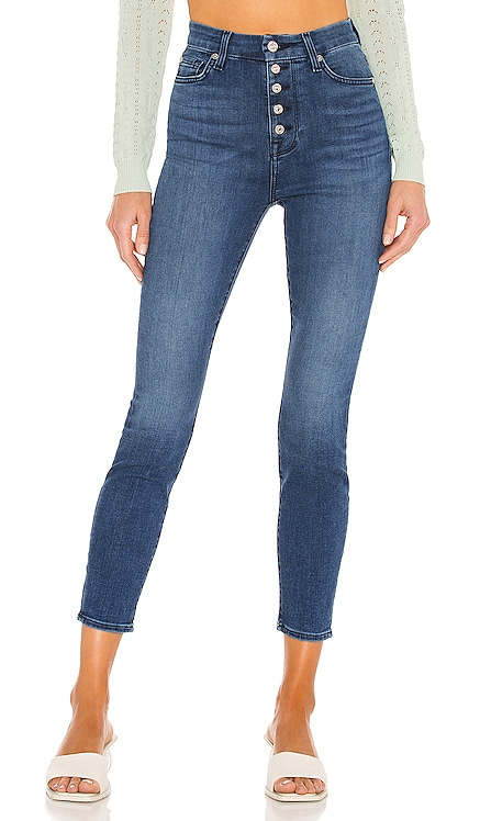 High Waist Ankle Skinny 7 For All Mankind $178 NUEVO