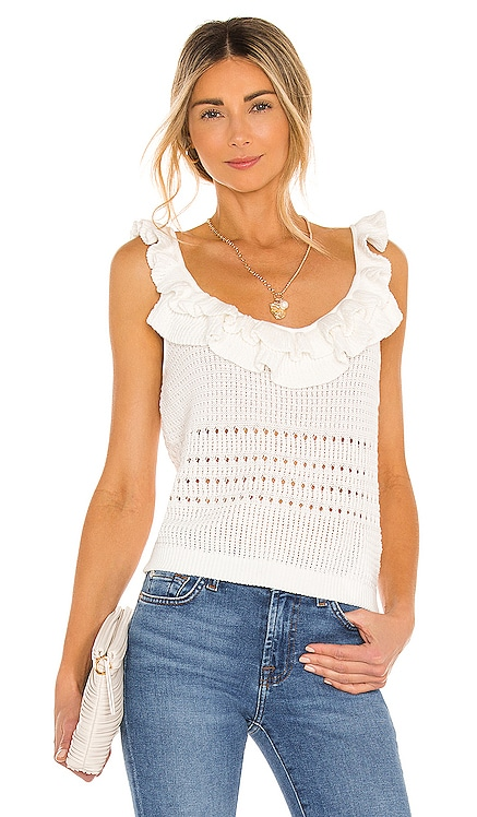Crochet Ruffle Cami 7 For All Mankind $148 BEST SELLER