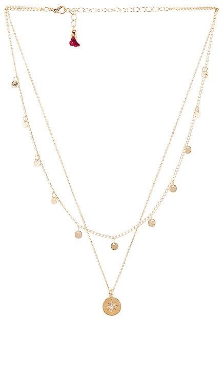 Starburst Coin Layered Necklace SHASHI $53
