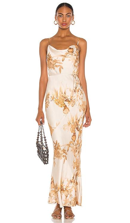 Ines Bias Maxi Dress Shona Joy $335 NEW