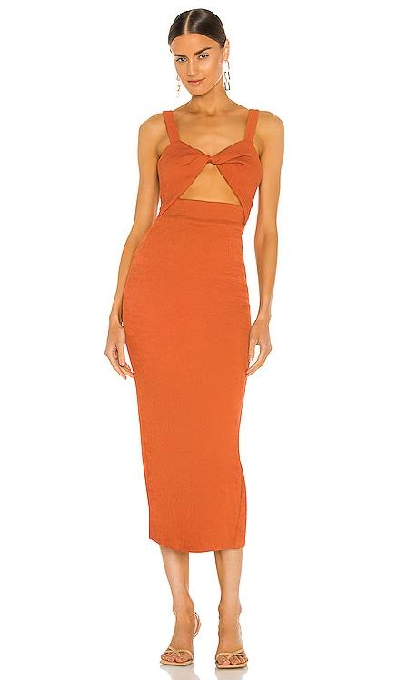 Simone Fitted Cut Out Midi Dress Shona Joy $240 NEW