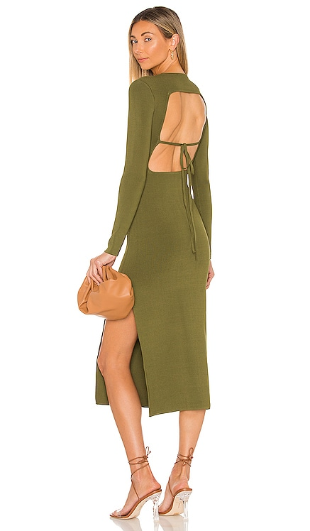 Lyon Long Sleeve Backless Midi Dress Shona Joy $295 NEW