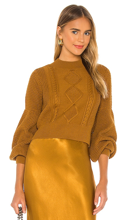 Warner Cable Knit Cropped Sweater Shona Joy $250