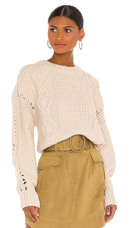 Camille Cable Cocoon Sleeve Jumper Shona Joy $320